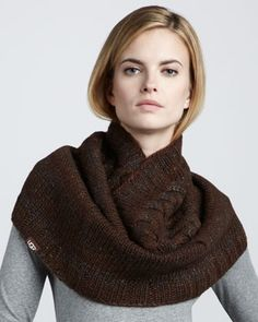 Because Fall is right around the corner. Bococa Knit Snood, Mahogany by Ugg at Neiman Marcus.