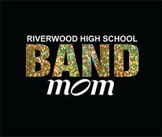 Band Mom Custom DIY Iron on transfer to make cute custom Band mom shirts High School Band Middle School Band by EazyOnz on Etsy