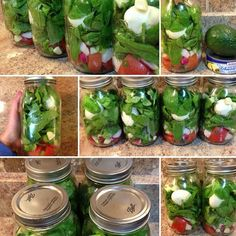 Salad in a jar for meal prep!