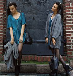 H Oversize Knit Cardigan, Zara Black Bucket Bag, Skopunkten Black Boots, H Dark Turquoise Top