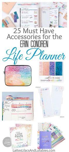 25 of the best accessories for the Erin Condren Life Planner...