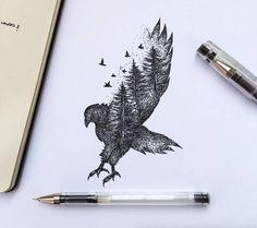 Poetic Surreal Black Ink Pen Illustrations – Fubiz Media