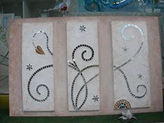 .Virgo. Pannello d' arredo con mosaico di specchio. Mosaic Mirrors, Mosaic Diy, Sissi, Stained Glass, Future, Color, Frames, Craft, Murals
