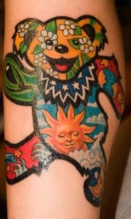 Grateful Dead Bear Tattoo