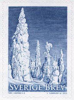 "Sweden Domestic Mail 2015, ""Winter trees"". Lars Sjööblom sc."