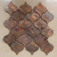 Idée relooking cuisine Arabesque Lantern Beacon Copper tile in bronze brushed for kitchen backsplash w Kitchen Wall Tiles, Kitchen Redo, Kitchen Backsplash, Kitchen Design, Copper Kitchen, Copper Backsplash, Backsplash Ideas, Copper Bathroom, Copper Wall