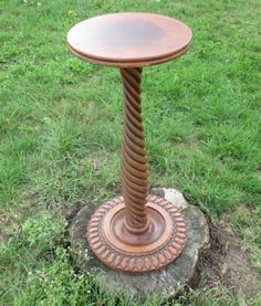 Vintage-carved-Twisted-wood-Pedestal-Display-Plant-Stand-25