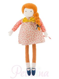 Moulin Roty Les Parisiennes Colette Doll.  Mademoiselle Colette is a stunning soft doll for the Les Parisiennes range by Moulin Roty.