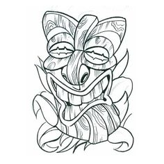 Tribal Mask Tattoos | tiki mask5 tribal tattoo design, art, flash, pictures, images, gallery ...