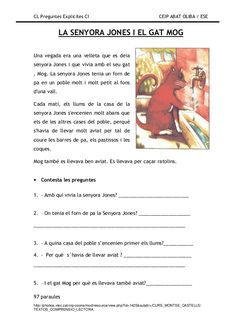 Preguntes explicites Catalan Language, Comprehension, Valencia, Fails, Activities, Teaching, School, Cl, Google
