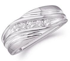 Men Diamond Wedding Ring 10k White Gold Engagement Band (0.25 Carat), Size 11 Jewel Roses,http://www.amazon.com/dp/B005GJ2HWY/ref=cm_sw_r_pi_dp_XQcGrb97AE8043B2