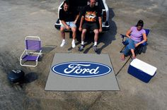 Ford Oval Gray Area Rug