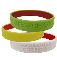 OEM Multicolor Debossed Silicone Bracelet for Promotion Gift