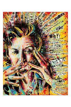 """Anne Sexton - """"Queen of This Condition"""" - 12 x 18 High Quality Pop Art Print Anne Sexton, A Level Art Sketchbook, Sketchbook Layout, Advanced Higher Art, High Art, Poster Prints, Art Prints, Medium Art, Mixed Media Art"""