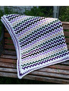 Crochet - Chevron Illusion Blanket - #REC1577