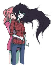 Bubble gum and Marceline (I don't ship them. I see them as best friends, like sisters)<<<<<I ship them hard ,it was said by a someone working on the show that marceline and bubblegum used to date