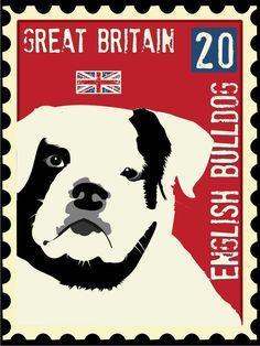 English Bulldog Art Print Wall Decor True Friend by GoingPlaces2, $21.00