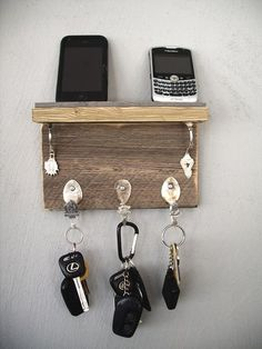 key rack and cellphone dock