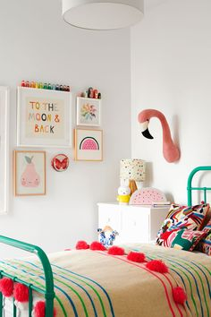 bright girl bedroom decor, girl room design, WRIGHTS TERRACE - Nikole Ramsay Photography Nice 43 Extraordinary Small Home Office Design Ideas With Traditional Themes. Nursery Room Decor, Bedroom Decor, Bedroom Ideas, Bedroom Green, Baby Bedroom, Bedroom Lighting, Artwork For Bedroom, Modern Bedroom, Bedroom Wall