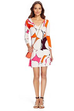 DVF Kaden Silk Jersey Tunic Dress