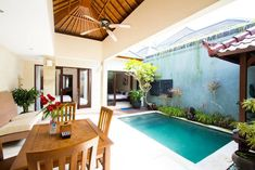 Ganze Unterkunft in North Kuta, Indonesien. Gemütliche 2-Schlafzimmer-Villa mit eigenem Pool. Bali, Kuta, Outdoor Decor, Room, Home Decor, Patio, Indonesia, Villas, Bedroom