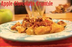 Apple Chocolate Crumble #EricHulseHolisticHealthandLifestyleCoach