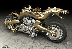 Fortus 3D Printer Provides Endless Design Possibilities For Orange County Choppers - including bringing this dragon bike to life.
