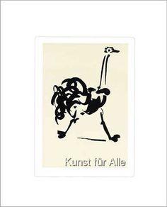Pablo Picasso - L'autruche