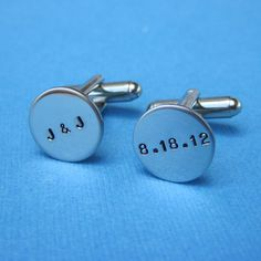 Custom Cuff Links Personalized Wedding Groom's by HotaruJewelry, $34.99