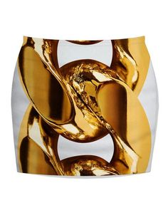 3D Print Heart-Shaped Crystal Tight Women Black Mini Skirt