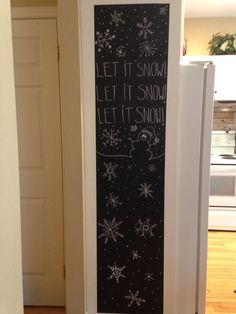 My winter chalkboard