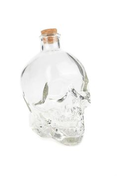 large glass skull jar