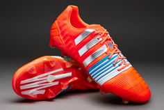 new arrivals 43aad 9a980 adidas Nitrocharge 1.0 FG - Infrared Metallic Silver Running White