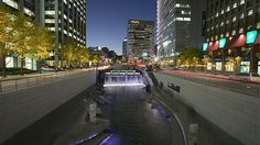 You can walk for 3.6 miles along this beautiful stream in Seoul: Cheonggyecheon.