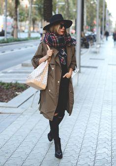 Long coat stylish fall outfit bmodish