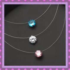 Invisible Line Cubic Zirconia Necklace