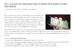 $11 in Curb On-Demand Taxi Credits Plus Enter to Win $50 More!