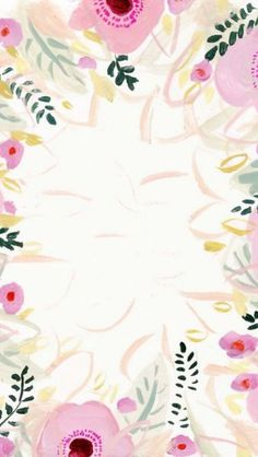 iPhone wallpaper floral print