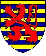 Jean de Rouvray  Chevalier  Fascé d'or et d'azur de douze pièces au lion de gueules sur le tout.Il était dans la bataille du centre et fut de ceux qui devaient garder le Roi derrière la bannière du Barrois. A la fin de la journée, il combattit contre Dammartin et se disputa la prise avec les frères Jean et Quenon de Condun.On m'a raconté que lorsque Guillaume le Maréchal mourut et que le Roi en fut averti, Jean était à sa table.