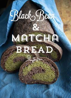 Mustapapu & Matcha Leipä - Black Bean & Matcha Bread (gluteeniton) | Keittiökameleontti
