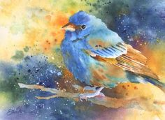 Indigo Blue, watercolor,6 x 9 by Susan Crouch