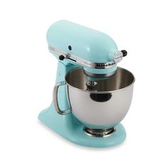 Cool Ice blue Artisan mixer from the artisan series of KitchenAid mixers.