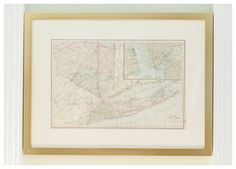 Vintage maps are a great way to add a little bit of character to your space.| Via @jamielefkowitz