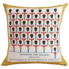 March On Cushion 50x50cm  Yellow: $34.95