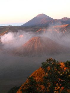 sunrise at Mount Bromo, Java, Indonesia...memorable experience..climbed up on a donkey before sunrise when still dark!