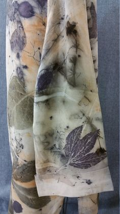 Eco dyed recycled Silk coat designer made and enhanced with