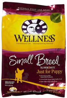 Wellness Small Breed Puppy - this is all we feed him and he loves it, and he's so healthy