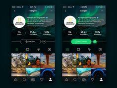 Instagram - Ios app redesign (dark version)