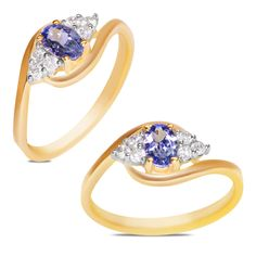1/7cttw with Tanzanite Ring in 10k Yellow Gold - Jewelry Deals 80% OFF + $25 OFF extra discount on purchases $500 & UP ! Enter PINPROMOT coupon at CHECKOUT to get $25 OFF when you place your order @ NissoniJwelry.com