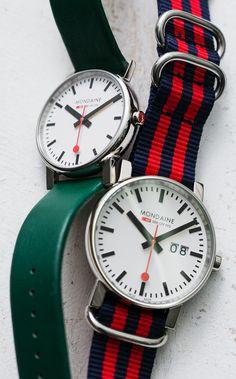 Mondaine Watch: Bring some Swiss design sensibility to your wrist.